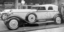 Från storhetstiden, 1927 Isotta Fraschini tipo 8A med enorm kaross från Hibbard&Darrin.