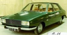 Och en stor-16, prototyp från 1971 som senare kom att bli Renault 18.