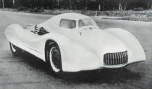 Ren racerbil på moskvitchbas, kallad 405-G2