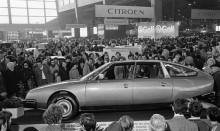 CX på salong 1974, intresset var stort för den nya modellen.