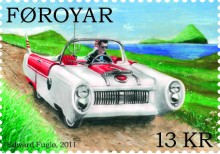 2011 hamnade bilen även på frimärke