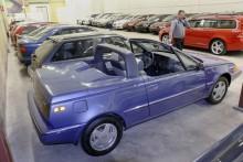 Från Volvo Museums samlingar kommer en 480 Cabriolet som visades på Genèvesalongen 1990, en av tre-fyra prototyper som byggdes.