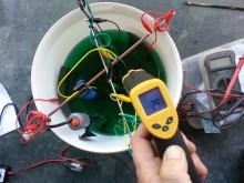 Temperaturen kollas med lasertermometer.