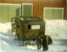 En frusen spillra. En urholkning. Utgångsläget för Julle high-tech hot rod var inte mycket att hurra för. En Dodge Victory 1928.