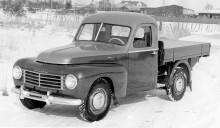 Så här kunde en karosserimakarbyggd flakbil se ut. Den här Volvo 445 har byggts av Klippans karosserifabrik.