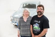 Berit och Lars Lundin har redan gått vidare till nästa renoveringsprojekt – en tidig Volvo PV444.