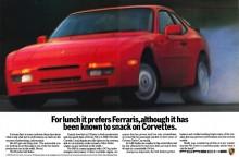 Den amerikanska teve-reklamen följdes upp med en tidningsannons med samma kaxiga budskap.