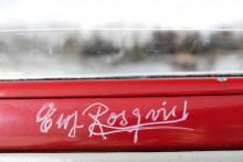 Ewy Rosqvist von Korffs autograf finns på bilen, det är dock inte hon som äger den.