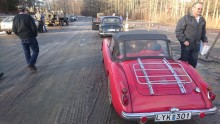 Att åka MGA från Julita i Sörmland för att delta i ett vinterrally i Stockholm innebär 49 mils resa på en dag. Inga problem i en MGA!