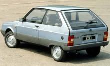 Citroën Axel, som såldes som ett billigare kompletment till Visa