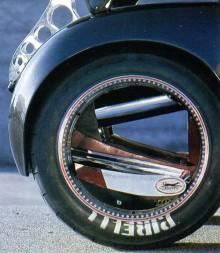 Det spännande galna navlösa hjulet.