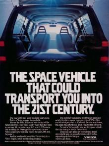 Framtidstemat fanns både i en amerikansk tv-reklam och i tidningsreklam.