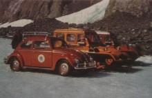 Folkan i sällskap med svensktillverkade Snow-Trac från Aktiv i Morgongåva.