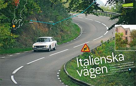 """Med Lancia Flavia intar vi """"Sveriges riviera""""."""