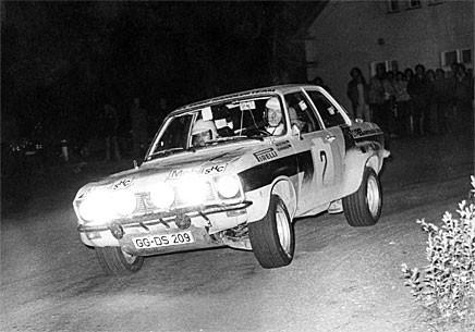 Walter Röhrl och Jochen Berger under ett rally 1974, året då de tog hem EM-titeln.