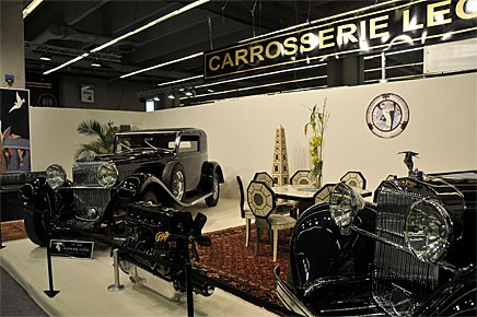Carrosserie Lecoq ställde ut två av dem renoverade Hispano-Suiza i en monter värdig detta förnäma märke.