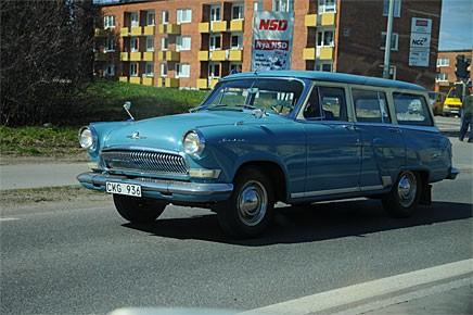 TIderna förändras, det är inte så många år sedan Boden var en stängd stad för utlänningar. Idag åker en Volga från 1964 runt i stan som om det inte var något särskilt med det.
