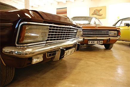 Opel-muséet i Axvall imponerar.