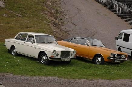 Prydliga 60-talsdesigner. Volvo 164 och Opel Rekord Coupé.