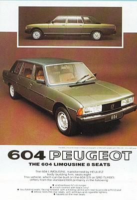 Heuliez var en av flera karossmakare som gjorde förlängda versioner av Peugeot 604.