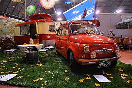 Nej inte en Fiat! Steyr-Puchklubben fick ett hedersomnämnande för sin monter.
