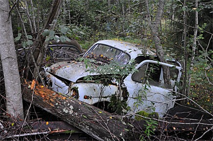 Ledsen Fiat på Röjeråsens bilskrot.