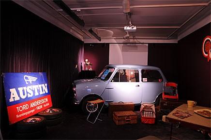 Peter och Sofie Kronsells Austin 850 byggd i oktober 1959 intar en hedersplats på utställningen.