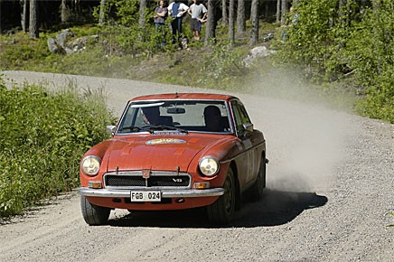 Björn Hedlund och Lars Wallin körde MGB GT V8. Slutade tia.