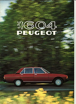 Peugeot 604 i full frihet.