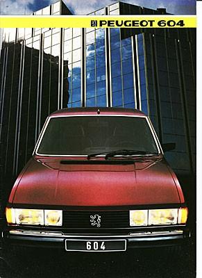 Marknadsföringsbudgeten var uppenbarligen inte enorm på 1980-talet. 1983, 1984 och 1985 användes samma omslagsbild på broschyren för Peugeot 604.