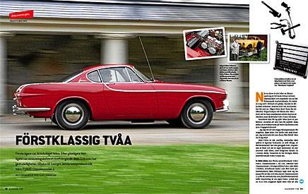 Sveriges äldsta serietillverkade Volvo P1800 är på rull igen. Mats Erikssons renovering var minst sagt noggrann!