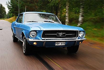 I en Ford Mustang 1967 genom Dalarna!
