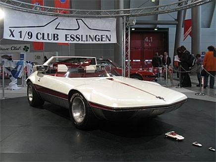 Kryss första september klubben hade lyckats få låna med sig en designstudie av modellen från Bertone att pryda sin monter med.