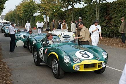 """Aston Martin DB3S, -55. Deltagare i """"Sir Stirling Moss at 80"""" paraden."""