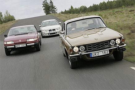 Tre generationers Rover V8 på jakt efter mer soppa...
