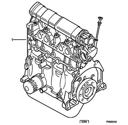 Komplett motor till Lënnart. Går fortfarande att beställa hos Citroën...