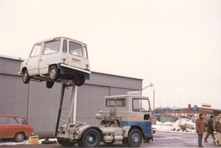 Statens lastbil skulle klara allt. Lyfta Tjorven till exempel.