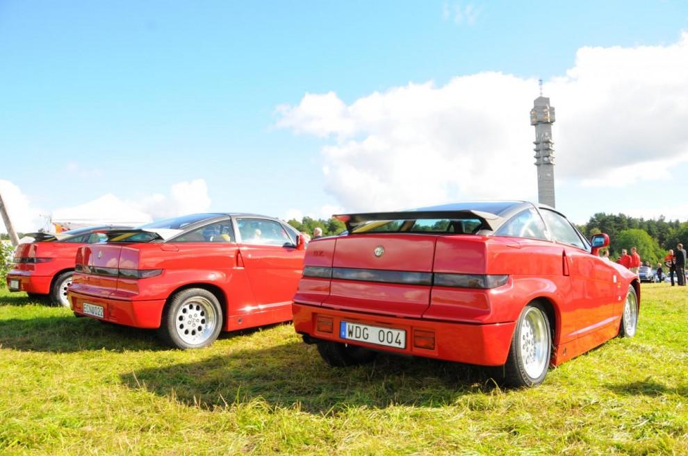 Tre av drygt 1000 tillverkade Alfa Romeo Sprint Zagato eller ES-30 hade hittat till Gärdet.
