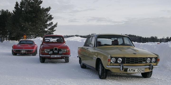 Skön blandning: Chevrolet Corvette, Saab 96 eller Rover 2200 TC.