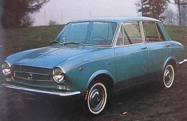Redan vid premiären visade Allemano en fyrdörrars sedankaross på lilla 850