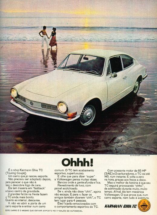 parallellt med den vanliga Ghia byggde man också en helt egen Karmann Ghia med tillnamnet TC