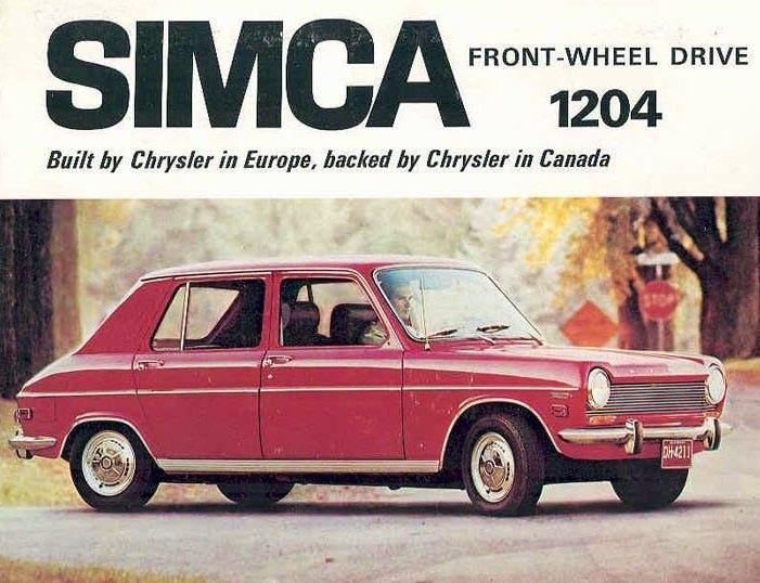 Vår Simca 1100 hette 1204 i Amerika, här  för Kanada 1970