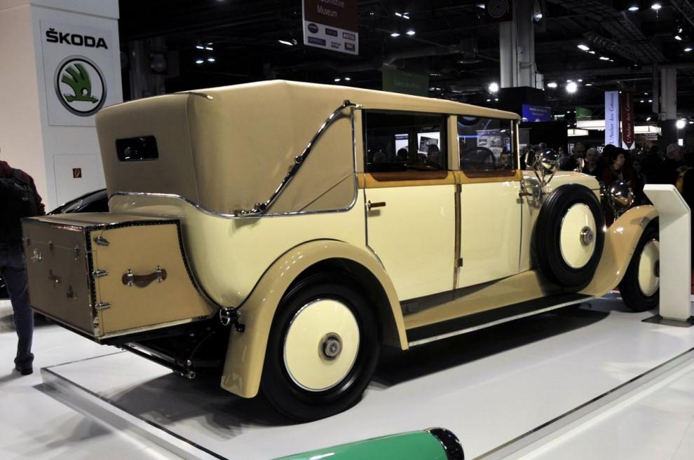 Tro det eller ej, men detta är en bil byggd av Skoda fast i samarbete med ädelmärket Hispano-Suiza. Utställd på Skodas fabriksmonter.