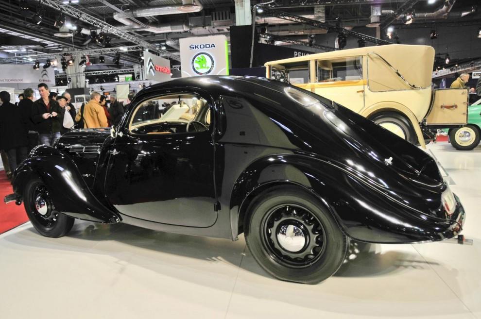 Skoda var på 1930-talet ett mycket respekterat märke känt för tekniskt raffinemang. Detta är en Monte Carlo coupé byggd 1936 på chassit till