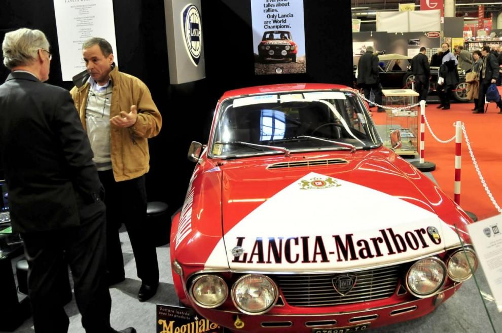 Lanciavännerna i Lancia Heritage ställde ut en Fulvia 1. 6HF från Lancias storhetstid som rallyvärldsmästare.