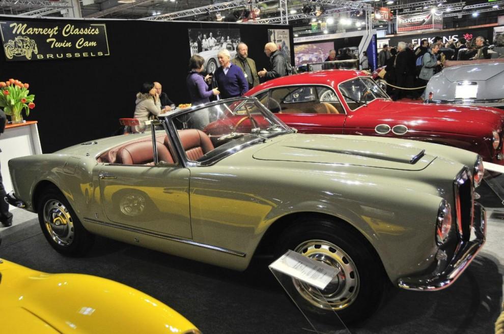 Ännu en Lancia Aurelia B24 Convertible, denna gång hos en belgisk handlare.