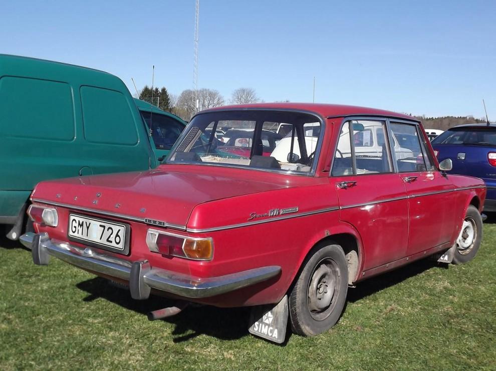 Simca 1501 från 1970, när såg ni en sådan senast? utskrotningshotad modell