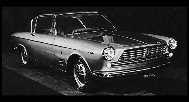 1960 presenterade Ghia en vacker coupé på 2100:an, som senare kom i produktion...