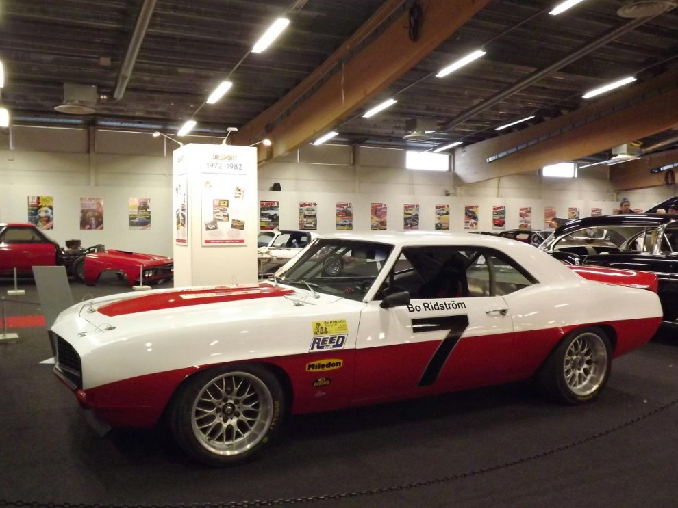 En annan jubilar som fyller femtio i år är tidningen Bilsport, och dom kunde presentera en bred kavalkad av fordon som publicerats och sponsrats genom åren. Bland annat Bosse Ridströms Camaro 69:a racerbil.