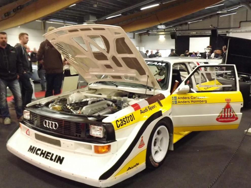 Audi Quattro S1 däremot är legendarisk i rallysvängen, detta är en replika av hur de tidiga grupp-B monstren tedde sig